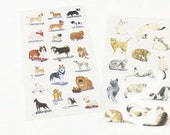 Cats and Dogs Planner Stickers Scrapbooking Stickers Funny Planner Stickers