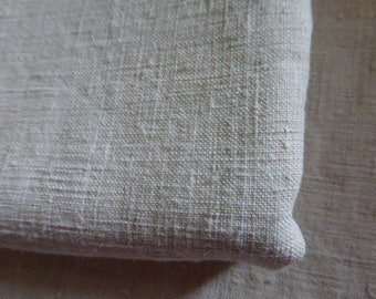 2 Pure Linen Fabric, French Linen Remnants. Slubby weave.