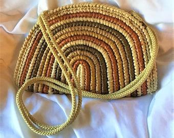 Vintage Walborg Raffia Straw Shoulder Bag
