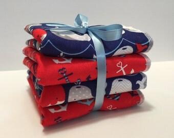 Baby Wash Cloth  - Children's Wash Cloth Set -  Baby Wash Rags -  Baby Bath Set - Nautical Baby Set - Boy Wash Cloth - Nautical Nursery