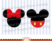 Mouse ears SVG,Mickey Silhouette and Minnie Silhouette svg dxf png jpg eps,Silhouette & Cricut Cut Files BSCH05-Personal and Commercial Use