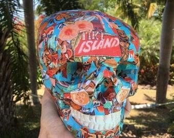 SALE Tiki Skull Tribal