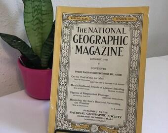 Vintage Magazine, january 1926, National Geographic, free shipping US & Canada