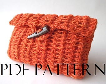 CROCHET BAG PATTERN Clutch Bag Pouch Bag Crochet Carmencita bag Purse Bag pdf pattern Instant Download crochet pouch jute bag summer bag