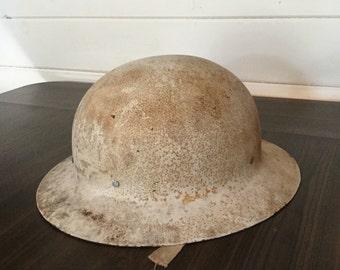 Vintage Steel Army Hat, Military Hat