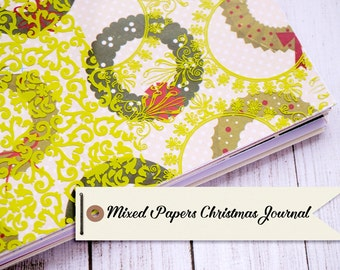 Mixed Papers Christmas Journal with 40 pages