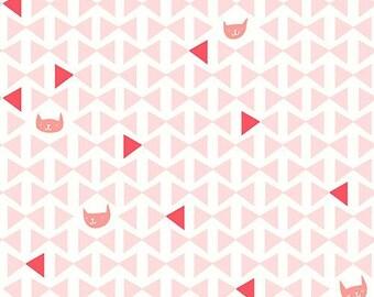 Catnap (Pink) - Lizzy House - Andover Fabrics - 1 Yard