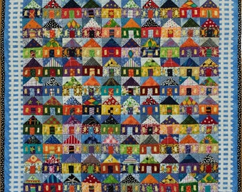 100 Houses wall quilt #2