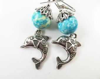 Fancy dolphin earrings