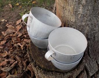 Set aluminum mugs - Vintage aluminum Cups