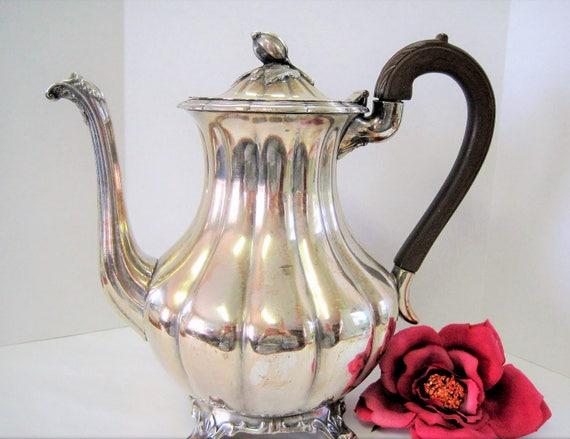 Silverplate Rogers Coffee pot  - 1881 Canada Coffeepot - Elegant Display Piece - Vintage Serving Pot