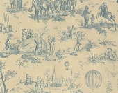 25% Off SALE Bon Voyage in Oyster Wood by French General for Moda - Toile - One Yard - 13700 19