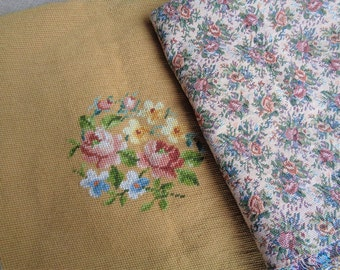Needlepoint Fabric Pillow Cover Fabric