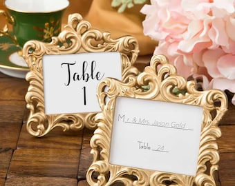 Place Card Holder in Gold - Set of 120 Frames