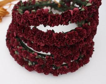 WINE LACE | Flower Girl Flower Crown Wreath