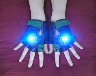 "Women's LED ""Joker"" Steampunk Gloves- Steampunk Joker, Cosplay, Anime, Comic Con, Apocalypse, Burning Man, Thunderdome, Sci Fi"