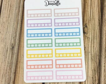 40-50% OFF SALE - Habit Tracker Planner Stickers, Daily Routine Stickers, Habit Stickers, Daily Tracker Sticker, set of 14 - Pastel