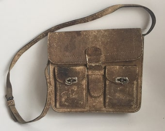 SALE! Antique leather satchel