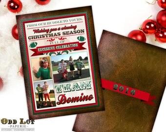 Football Christmas Card, Printable Christmas Card, Photo Card, Football Christmas Photo Cards, Football Themed,Sports Team, Printable Invite
