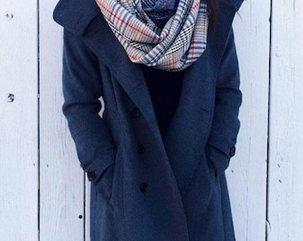 Plaid scarf, womens gift for girlfriend, Oversized winter Scarf, birthday gift for mom, teachers gift for women, best selling items, PIYOYO