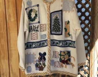 Cream Christmas Sweater