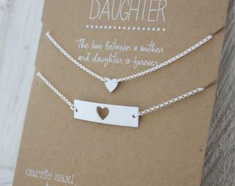 Mother Daughter Bracelet Set - Mother's Day Gift - From Daughter For Mom - Bar bracelet - bracelet Gift - Graduation Gift - Wedding Gift Set