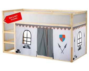 Castle Bed Playhouse / Bed tent / Loft bed curtain - free design and colors customization