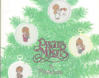 "Clearance- ""Precious Moments in Miniature"" Counted Cross Stitch by Designs by Gloria & Pat"