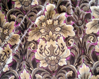 Réservé *****2 Curtains cut silk velvet French antique fabric trim 19th-century