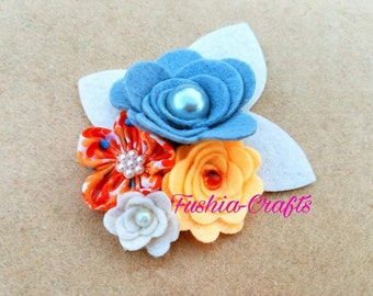 Delicate Felt Flower Applique