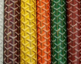 Goyard synthetic leather fabric