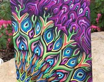 "8""x10"" Original Acrylic Painting on a Thin Canvas Panel"