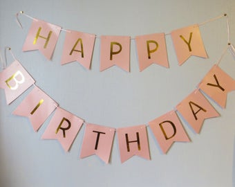 Birthday Banner Girl,Bunting,Garland,Sign, Princess Party,Pink,Photo Prop