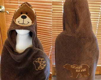 Bear Hooded Towels - Free Personalization