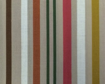 Cotton Fabric / Striped Cotton Fabric / Vintage Cotton Fabric / Fall Fabric / Brown Stripe Fabric / Vintage Stripe / 38 Inch Width