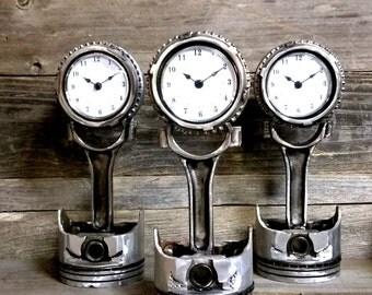 Custom Piston Gear Clock