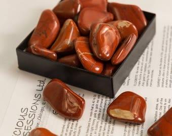 """Red Jasper Tumbled Stones 1/4 Lb Size Large 1.25-1.85"""""""