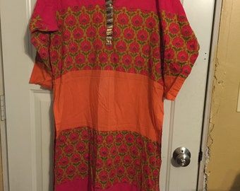 orange and fuschia kameez European size 44 US size 34