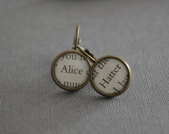 Alice and Mad Hatter Alice in Wonderland Earrings