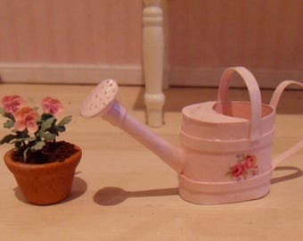 Pink watering can to your dollhouse