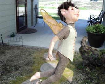 Drake, Garden elf, fairy, fairie, pixie OOAK