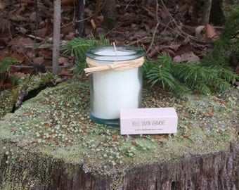 Hand-poured Natural Soy Candle- Recycled Glass-4 ounce- Belle Savon Vermont