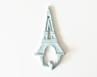 Eiffel Tower Wall Hook, Paris Apartment, French Decor, Cast Iron Coat Hook, Nursery Art, Bathroom Decor, Towel Hanger, France Wall Hanging