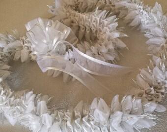 White wedding lei