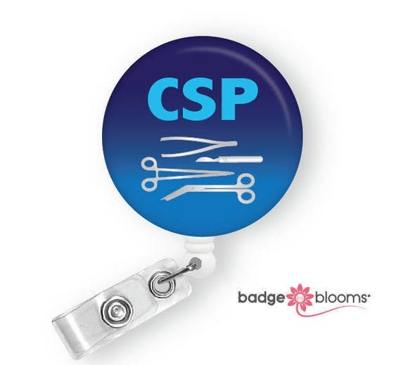 Central Sterile Processing Badge Reel CSP ID Holder
