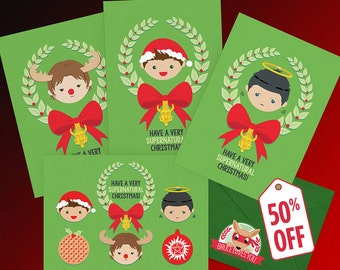 A Very Supernatural Christmas Card - BUNDLE - PRINTABLE