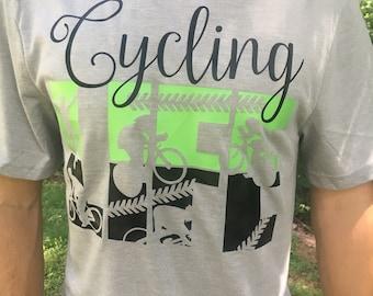 Cycling Shirt - Bicycle Shirt - Cycling Life Shirt - Father's Day Gift - Bike T Shirt - Bike Shirt - Sports Tees - Cycling T shirt