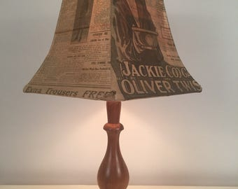 Authentic 1920's Newspaper lamp - one off piece