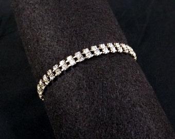 Two Strand Rhinestone Bracelet