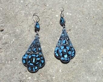 Pair Long Colorful Earrings